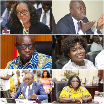 Powerful ministers who have lost their jobs in Akufo-Addo's 2nd govt